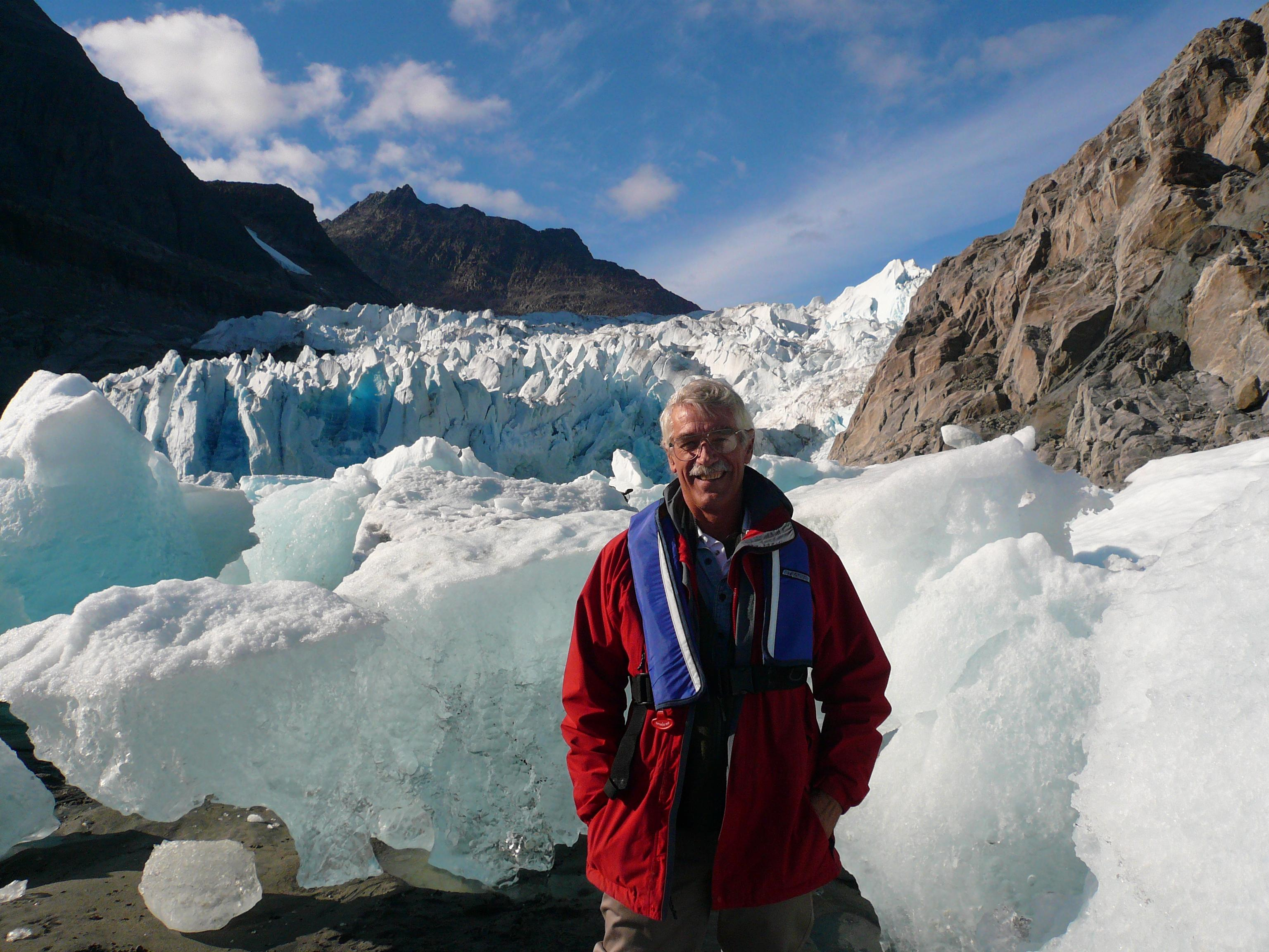 William Fitzhugh at Evighedfjord glacier, West Greenland, in September, 2010. Credit Elizabeth Graversen.