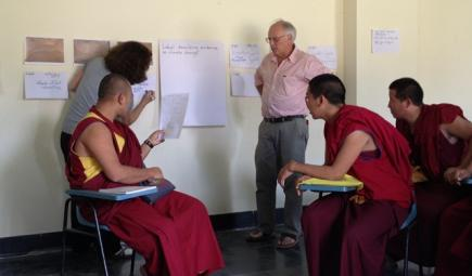Ecologist teaching Tibetan monks about climate change