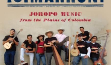 Album cover with Colombian musicians