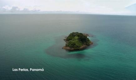 Las Perlas islands of Panama near humpback whale migratory route