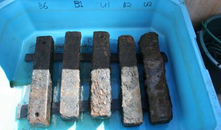 Iron ballast recovered from slave ship wreck