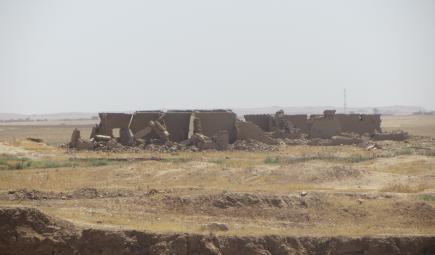 ISIS-damaged ruins at Nimrud