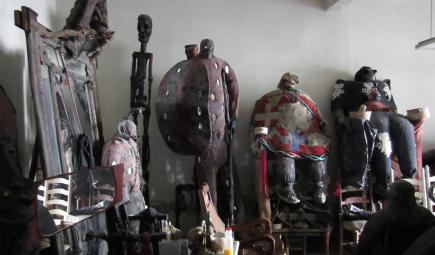 Preserved Haitian statue figures in room