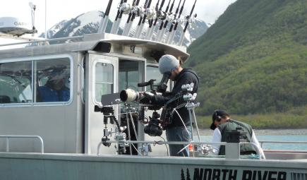 Videographers film Yakutat seal hunt from boat
