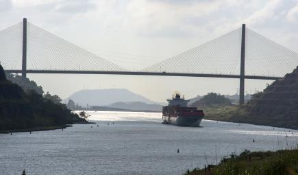 Centennial Bridge spanning the Panama Canal