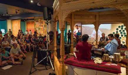On weekends, the exhibition hosts Afghan music, poetry, and discussions