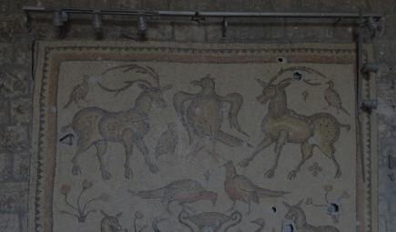 Un mosaico dañado en Siria