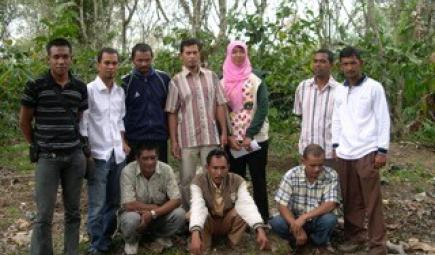 Indonesian coffee producers at a training workshop