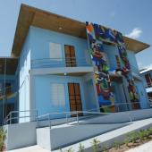 New building of center for cultural conservation in Haiti