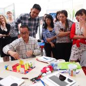 Participants in a design prototyping activity in Brazil