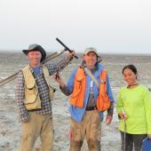Biogéochimiste et son équipe à Abou Dhabi