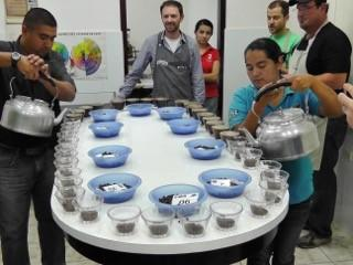 Coffee Cupping Training Honduras. Photo Credit Bob Rice