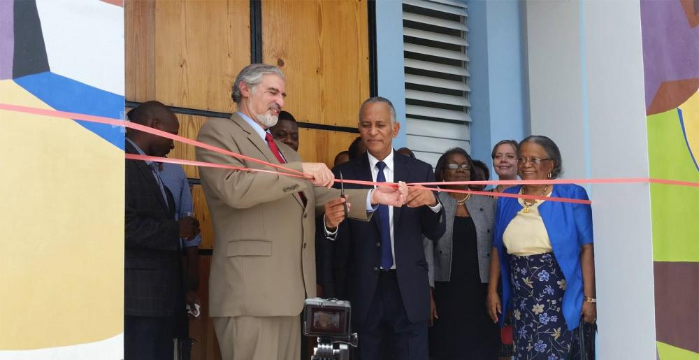 Under Secretary Richard Kurin opens the new, permanent Centre de conservation in Port-au-Prince, 2015. Photo Credit Stephanie Hornbeck, Caryatid Conservation