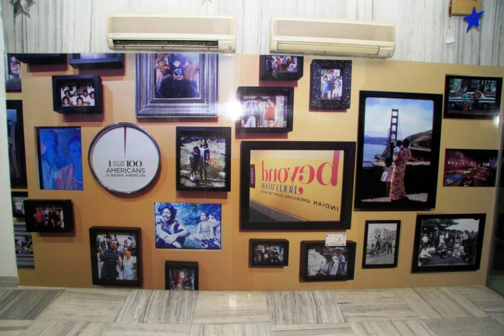 """Inauguration of the """"Beyond Bollywood"""" exhibit in the Delhi American Center. Photo courtesy of the U.S. Department of State."""