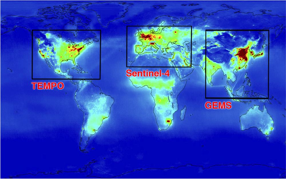 TEMPO will sync with satellite systems in Asia and Europe. Photo Credit NASA